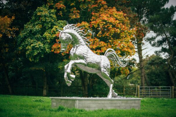 Leaping Horse metal Sculpture