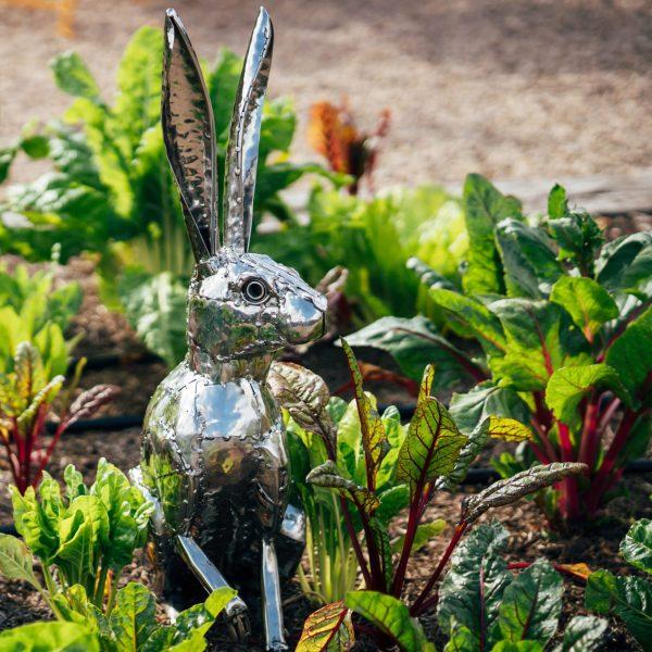 Hare garden sculpture